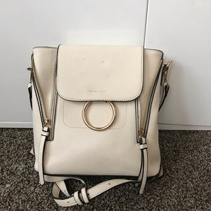 Forever 21 faux leather white bookbag